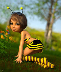 Cherry the honeybee by Navi-nc