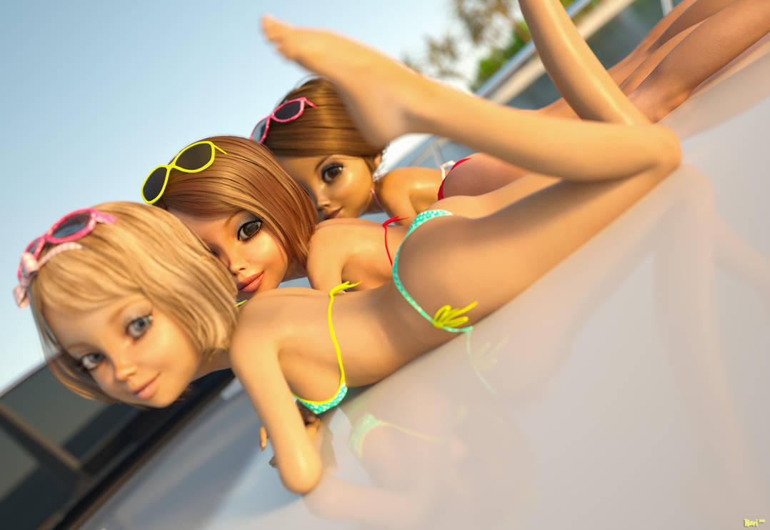 Sundeck cuties by Navi-nc