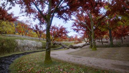 DOA5 Stage - Autumn Forest by Nodern03