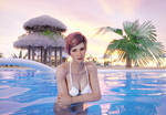 Mila Photoshoot 01 - Fun in the pool by Nodern03
