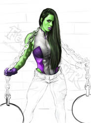 She Hulk WIP COLORS by killbiro