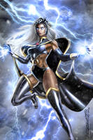 STORM  Ororo X-MEN (digital art COMISSION) by killbiro