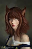 Nicchi (OC Contest!)  semi realist portrait by killbiro