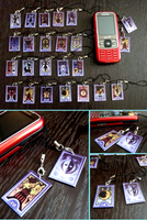 Persona Tarot Card Charms by skipaway