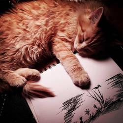 My little art buddy! by Manomatul