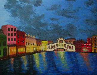 Rialto Bridge, Venice by brokenxxchild