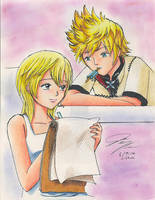 Namine and Roxas by Chinese-Shinigami