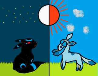 shadow + star '2 worlds apart' by shinyumbreonfan