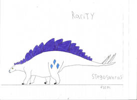 Rarity Stegosaurus form by DJDinoJosh