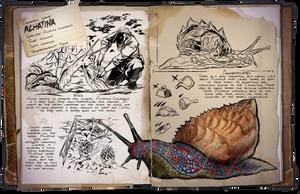 Ark: Survival Evolved Dossiers: Achatina by DJDinoJosh