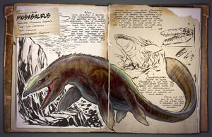 Ark: Survival Evolved Dossiers: Mosasaurus by DJDinoJosh