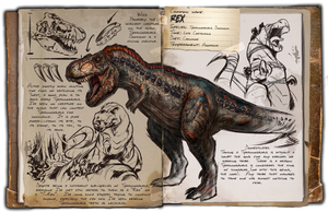 Ark: Survival Evolved Dossiers: Rex by DJDinoJosh