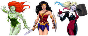Women of DC Comics by drawerofdrawings