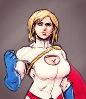 Power Girl sketch by drawerofdrawings