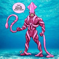 Mister Squid-Head by drawerofdrawings