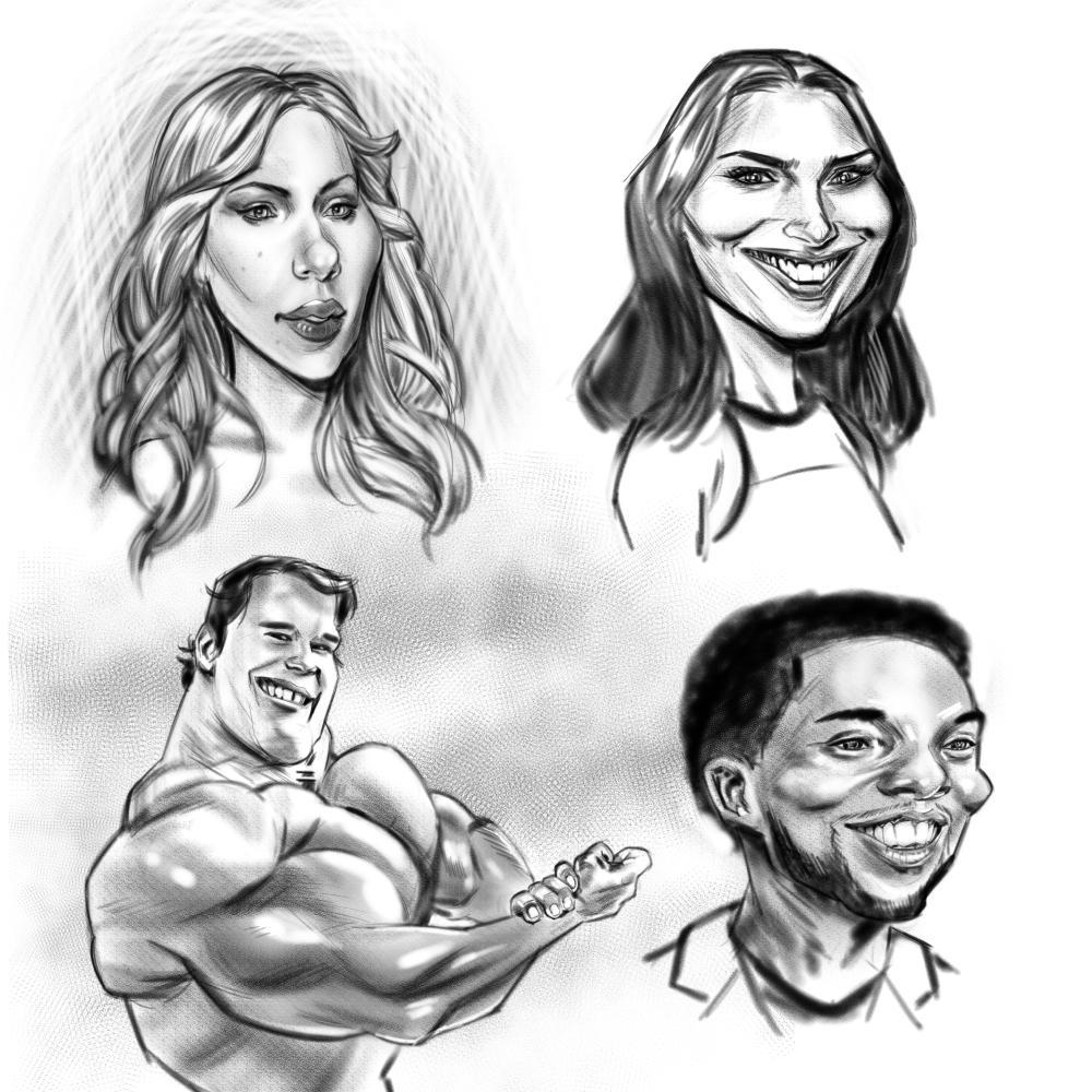 Caricatures by drawerofdrawings
