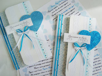Blue wedding invitations by SakumaSweet