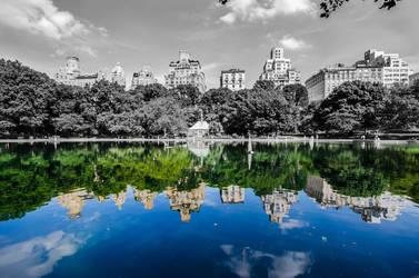 Central Park Pond by LojZza