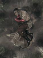 lying in the rain by dakr0819