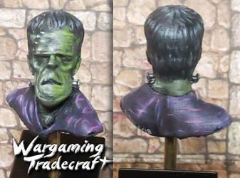 Frankenstein Bust by NPlusPlus