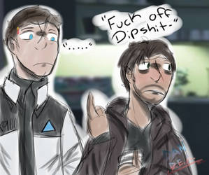 .:Fuck Off-:. (D:BH) - colored sketch by DanDeEdgyArtist