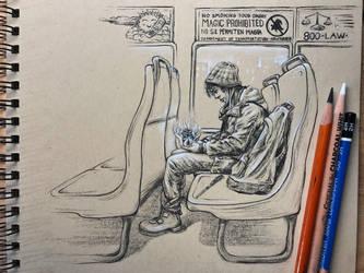 No magic on the bus! by leversandpulleys