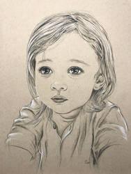 Portrait of a girl by leversandpulleys