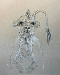 Saber-toothed Alpaca by leversandpulleys