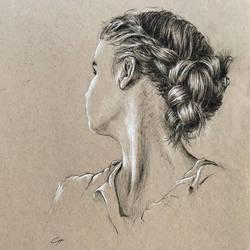 Girl with braided hair by leversandpulleys