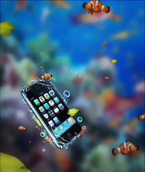 Iphone underwater by Sparky303