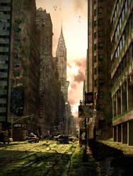 Post Apocalyptic City by Amartia