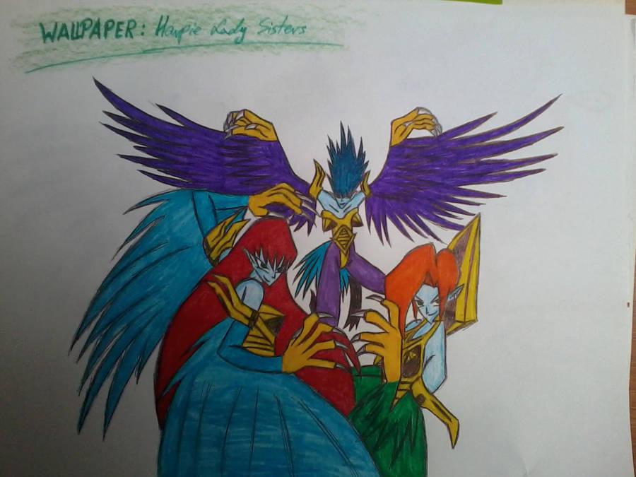 Wallpaper Harpie Lady Sisters By Harpielady5nazifan On Deviantart