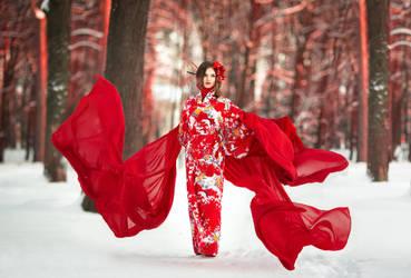Red winter by Wan-Mei