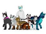 Fursona Squad by phoenixthefox1