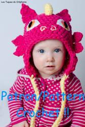Dragon hat crochet pattern by Snyki