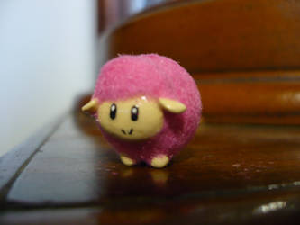 Flocked Harvest Moon Lamb Figurine by chibimemories
