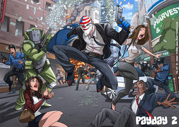 Payday 2 Fan art by jennyisdrawing