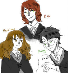 Harry, Ron and Hermione by you880609