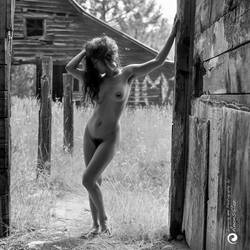 Nude at the barn... by aakoran