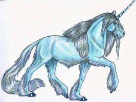 Random Blue Unicorn by DV-Skitz