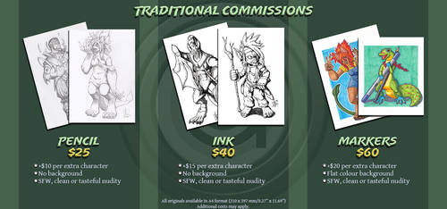 Traditional Commissions by Geckone