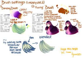 Brush Settings- Paint Tool Sai by ShintaRee