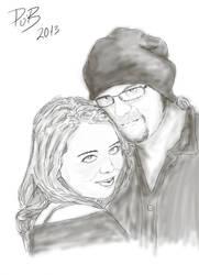 Katie and Aaron by PhaeOBrien