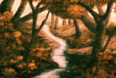 Autumn Landscape by Thesis-D