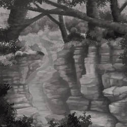 Forest Crevice by Thesis-D