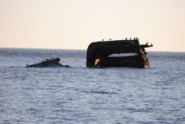 SS Atlantus - Sunken Ship ll by KelseyMariePhoto