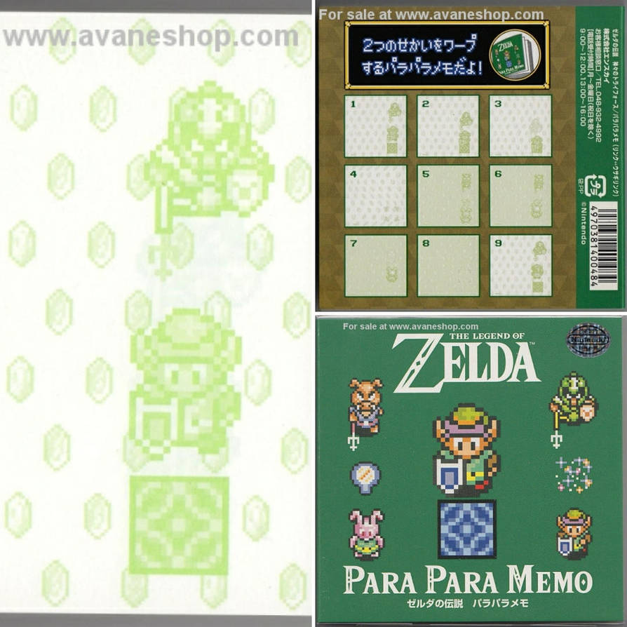 Legend of Zelda note pad by avaneshop