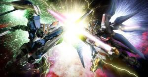 00 Raiser vs Strike Freedom by Aruvinu