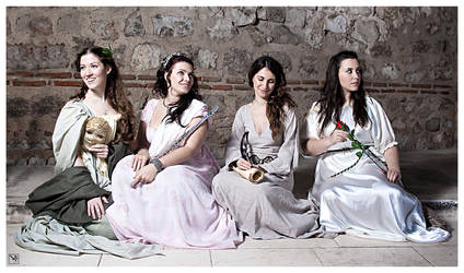 Greek Muses by PurgatorioInferno