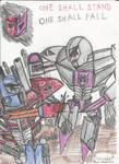 Optimus Prime vs Megatron by RedFire11